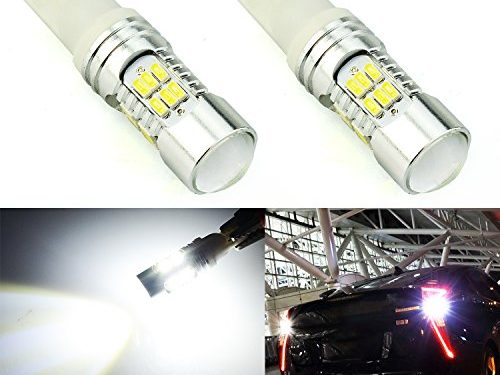 JDM ASTAR Super Bright 30-EX Chips 921 912 LED Bulbs with Projector For Backup Reverse Lights, Xenon White