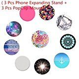 Universal HOT Phone Expanding Stand and car Holder Hand Grip , Expanding Stand and Grip for Smartphones and Tablets 3 Pack