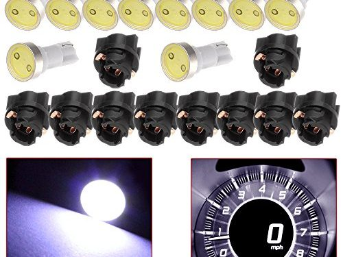 CCIYU 10 Pack White T5 Twist Socket PC74 A/C Climate Control Light Bulb 37 73 17 T5 Led Bulbs