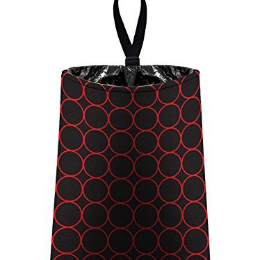 red and black by The Mod Mobile – Auto Trash Rings – litter bag/garbage can for your car
