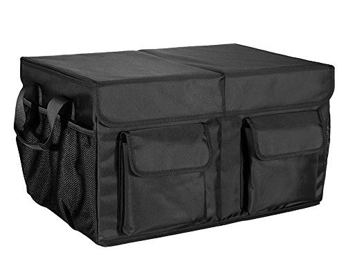 MIU COLOR Foldable Cargo Trunk Organizer with Cover, Reinforced Handles and Car Cooler
