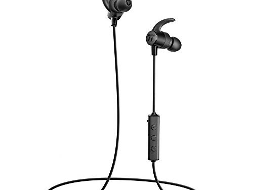 TaoTronics Bluetooth In Ear Headphones Wireless Earbuds Sports Magnetic Earphones with Built-in Mic Sweatproof with IPX5 Splash Proof Rating, aptX Stereo, Up to 7 Hours Talk Time, Ceramic Antenna