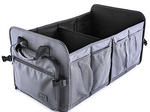 Car Trunk Storage Organizer; MIU COLOR Waterproof Collapsible Storage Containers for Car, Truck, SUV; Gunmetal Gray