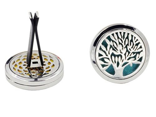 YRD TECH 10 Style Stainless Car Air Vent Freshener Essential Oil Diffuser Locket A