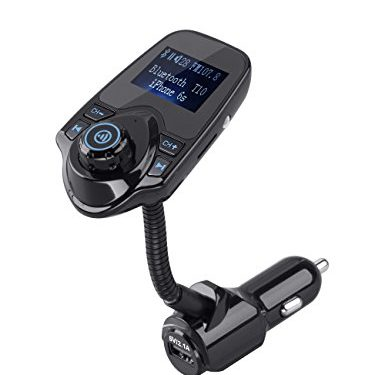 FM Transmitter Bluetooth FM Transmitter VPOW Radio Transmitter FM Radio Transmitter FM Transmitter for Car Radio Adapter Fm Fransmitter for iphone with 1.44 Inch Display TF SD Card Slot Car Charger