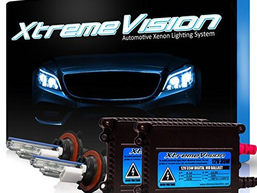 Dark Blue – H13 / 9008 10000K – 2 Year Warranty – XtremeVision 35W HID Xenon Conversion Kit with Premium Slim Ballast