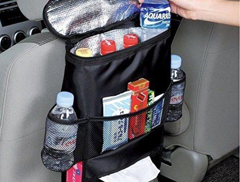 KAFEEK Car Seat Organizer/Auto Seat Back Organizer/Multi-Pocket Travel Storage Bag/Insulated Car Seat Back Drinks Holder Cooler / Storage Bag Cool Wrap Bottle Bag with Mesh PocketsHeat-Preservation