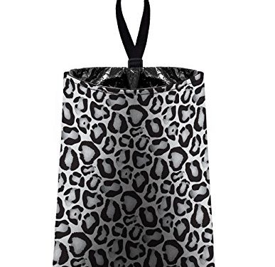 Auto Trash Grey and White Snow Leopard by The Mod Mobile – litter bag/garbage can for your car