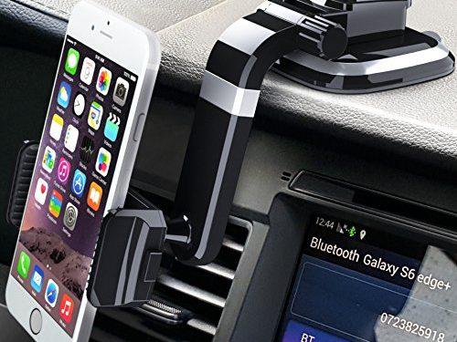 Dashboard Cell Phone Holder for Car, Car Phone Mount, Phone Car Holder for iPhone 7 / 7 Plus / 6S / 6S Plus / Galaxy S8 / S8 Plus / S7 / S7 Edge / LG / Nexus