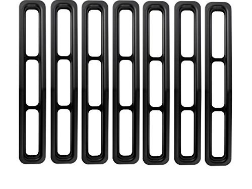 Upgrade Clip in Version Opar Matte Black Front Grille Inserts for 1987-1995 Jeep Wrangler YJ Pack of 7