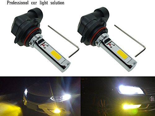 Calais Extremely Bright LED 9005 HB3 COB Chips 30W Golden Color LED Fog Lights Bulbs Plug-n-Playpack of 2
