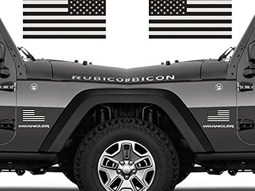 Ghosted Subdued American Flags Tactical Military Flag USA Decal JEEP 3″ X 5″ Pair. Great for Jeep, Ford, Chevy or Hard Hat or Lunch Box. Car Vinyl Decal Sticker