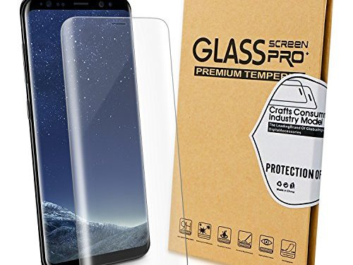Bestronic Galaxy S8 Screen Protector Anti-Bubble Film Full Coverage Case Friendly for Samsung Galaxy S8Transparent
