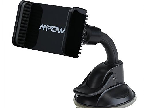 Mpow Car Phone Holder, Cell Phone Dashboard Car Phone Mount with One Hand Release for iPhone, Google Nexus, LG, HTC, Huawei, etc