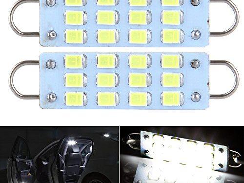CCIYU 2 Pack White 44mm 12-SMD Rigid Loop Festoon 1.73″ LED Light Bulbs 561 562 567 564 white