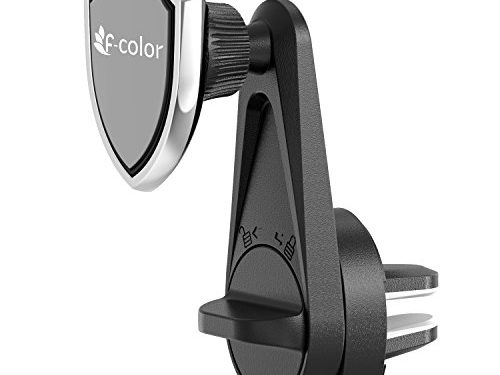 Car Phone Holder, F-color Air Vent Car Mount Cell Phone Holder for Car Magnetic Support Smartphones iPhone, Samsung, HTC, LG, Google Pixel,GPS Devices, Strong Magnets, Stable, Easy Install, Black