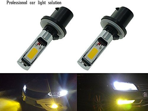 Calais Extremely Bright LED 880 890 892 893 Gold Color COB Chips 30W LED Fog Light Bulbs Plug-n-Playpack of 2