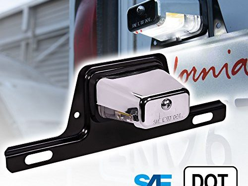 Chrome Housing – OLS LED Trailer License Plate Lights w/ Bracket SAE/DOT Certified Waterproof Heavy Duty License Tag Lights for Trailers, RV, Trucks & Boats