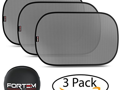 Side Car Window Sunshades Pack of 3 80 GSM for the Best UV Protection 2 Sizes SUVs & Minivans 21′ x 14