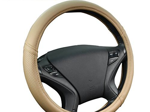 New Arrival- Car Pass Classical Leather Automotive Universal Steering Wheel CoversBeige