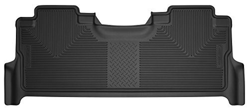 Husky Liners 53381 2nd Seat Floor Liner Fits 2017 F250F350/F450 Crew with Factory Box, Black
