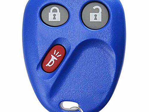KeylessOption Keyless Entry Remote Control Car Key Fob Replacement for LHJ011 – Blue