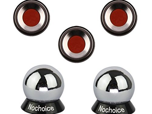 Nochoice Magnetic Car Mount Cell for Phones Big Angle Black 3 Magnets + 2 Balls