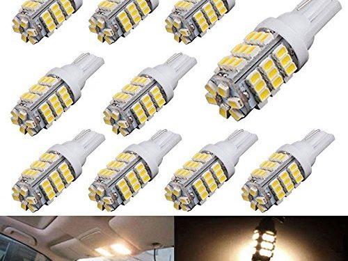 AUTOUS90 10 x RV Trailer T10 921 194 168 2825 42-SMD 12V Backup Reverse LED Warm White Lights Bulbs
