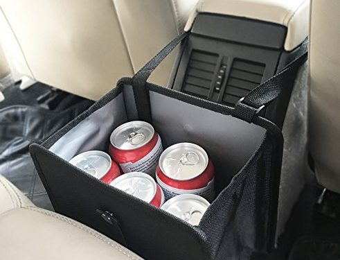 LeeQueen Car Garbage Can, 100% Waterproof and Multipurpose for Car Organizer, 10 PCS Garbage Bags Included Black