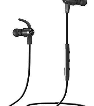 Bluetooth Headphones, VAVA MOOV 28 Wireless Sports Earphones in Ear Earbuds with 8 Hours Playtime IPX5 Splashproof, aptX Stereo, Magnetic Aluminum Design, Noise Cancelling Mic