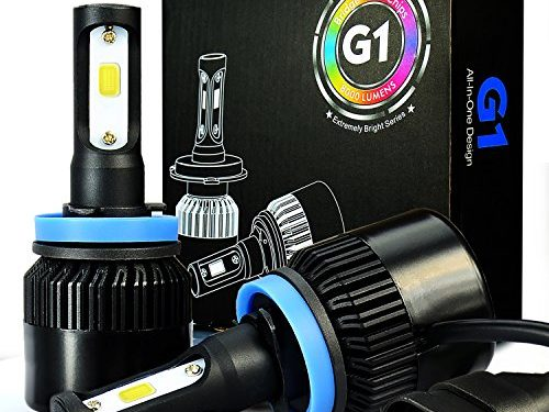 JDM ASTAR G1 8000 Lumens Extremely Bright H11 H8 COB LED Headlights, Xenon White