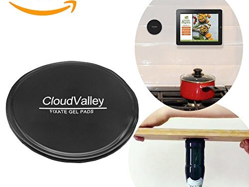 can Stick to Glass, Mirrors, Whiteboards, Metal, Kitchen Cabinets or Tile, Car GPS and many more – Premium Fixate Cell Pads by CloudValley 5 PACK, Sticky Anti-Slip GEL Pads