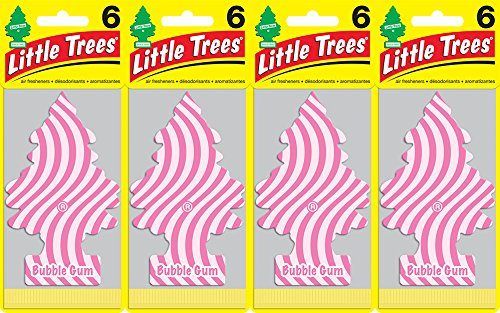 Little Trees Bubble Gum Air Freshener, Pack of 24