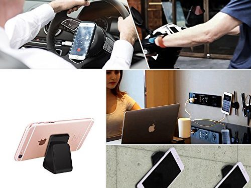 Cell Phone Stand | iPhone 7 Plus Stand | iPhone Car Holder,iPhone Sticky Pad for all Android Smartphone and iPhone,Gel Pads,Nano Pad,Stick to Anywhere&Holds AnythingBlack-One Pack