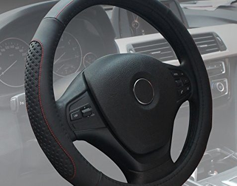 Black Steering Wheel Cover Universal Microfiber Leather Fashion Soft Breathable Car Steering Wheel Cover for Women
