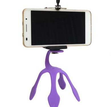 Itestoo Flexible Stand/Holder Mini Tripod Mount Portable for Smart Phone, GoPro,Camera and Other Digital Devices Purple