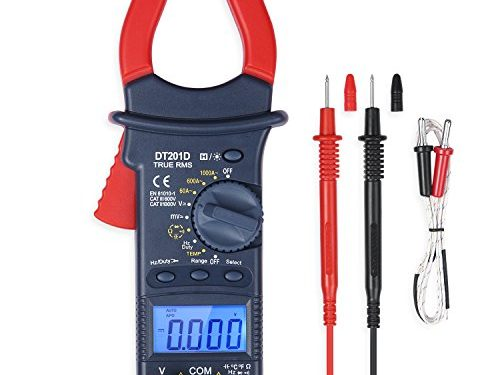 AstroAI Digital Clamp Meter, TRMS 6000 Counts Multimeter with Auto Ranging; Measures Voltage, Current, Resistance, Continuity, Capacitance, Frequency; Tests Diodes, Temperature