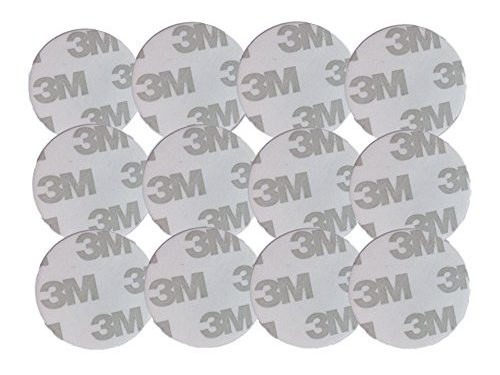 3M Adhesives for Pop Expanding Stand and Grip,12 pcs 3-M removable Sticky Replacement Adhesive Stickers Pads for Cell phone Stand Mount Holder Car Mount white