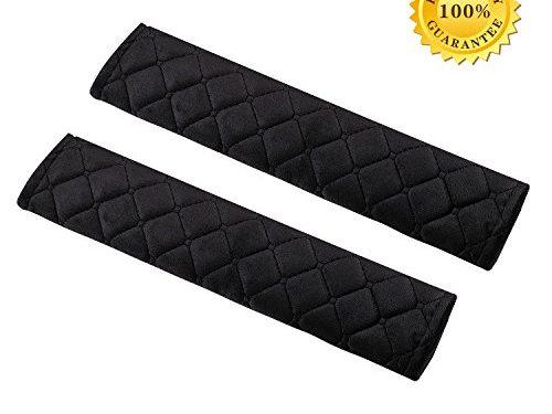 Seatbelt Pads,Car Belt Protector,Carsemoo Seat Belt Shoulder Strap Covers Harness Pads For Car/Bag,Soft Comfort Helps Protect You Neck And Shoulder From The Seatbelt Rubbing/Lrritation Black 2-Pack