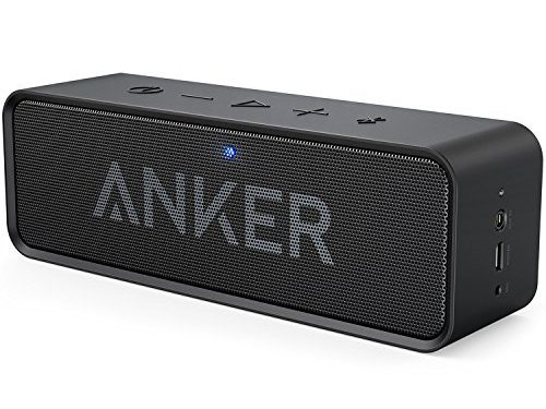 Black – Anker SoundCore Bluetooth Speaker with 24-Hour Playtime, 66-Foot Bluetooth Range & Built-in Mic, Dual-Driver Portable Wireless Speaker with Low Harmonic Distortion and Superior Sound