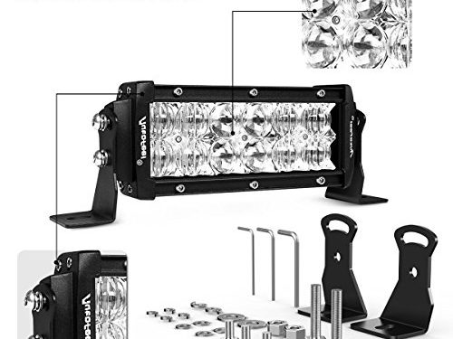 LED Light Bar, Autofeel 7 Inch 36W LED Light Bar 5D Lens Spot Flood Combo Beam Waterproof Dual Row LED Work Diving Lights for Off Road Jeep ATV AWD SUV 4WD 4×4 Pickup