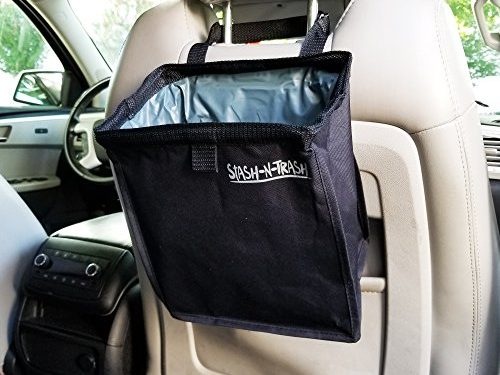 Car Trash Basket Bag Can Caddy Waterproof Leak-proof Vehicle Container Organizer Toys Papers Lunches Automotive Accessories