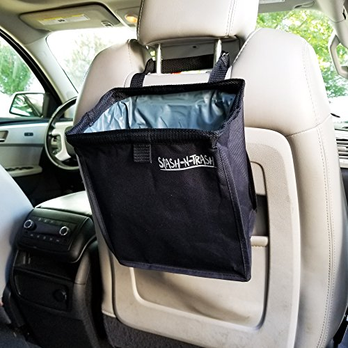 car trash basket bag can caddy waterproof leak proof vehicle container organizer toys papers. Black Bedroom Furniture Sets. Home Design Ideas