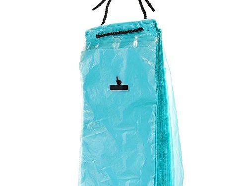 HaloVa Car Garbage Bag, Traveling Portable Auto Seat Back Hanging Trash Bag, Disposable Car Organizer Storage Bag for Litter Garbage Trash, Stick Anywhere, Blue, 50PCS