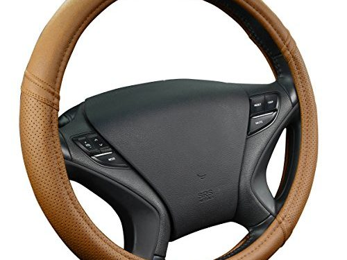 New Arrival- Car Pass Classical Leather Automotive Universal Steering Wheel Covers Brown