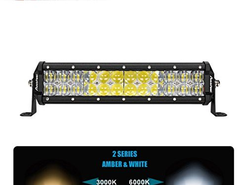 LED Light Bar, Autofeel 12 Inch 72W LED Light Bar 5D Lens Spot Flood Combo Beam Waterproof Dual Row LED Work Diving Lights for Off Road Jeep ATV AWD SUV 4WD 4×4 Pickup