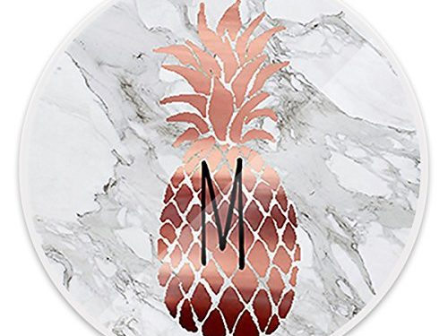 Multi-Function Mounts and Holder, Expanding Stand Pop Grip Mount Sockets for Cellphones, Smartphones and Tablets – Rose Gold Pineapple