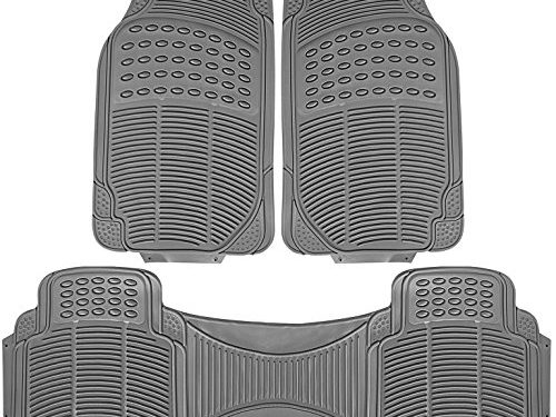 Johns FMR-23 3pc Set Gray All-Weather Rubber Floor Mats