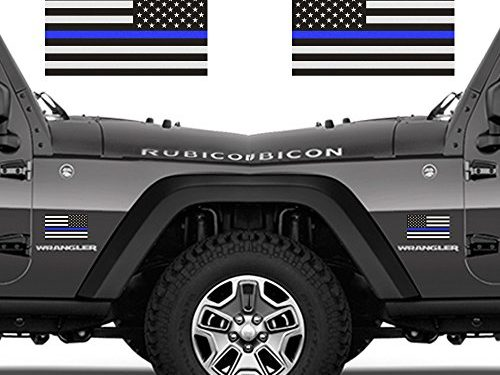 Thin Blue Line Decal Back The Leos Vehicle Per Sticker Flag American Police