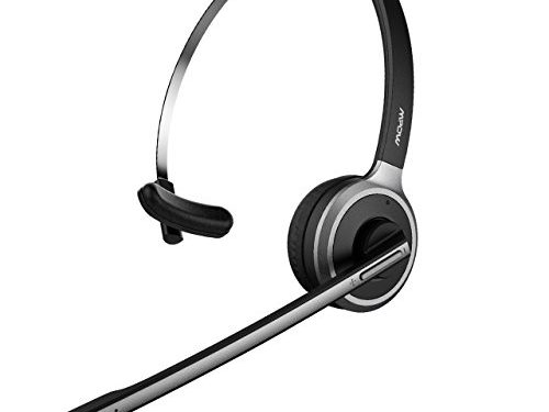 Mpow Pro-2 V4.1 Bluetooth Office Headset/ Truck Driver Headset, Wireless Over Head Earpiece with Noise Reduction Mic for Phones, Skype, Call Center Support Media Playing